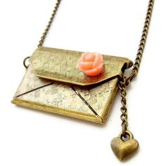 hidden love letter necklace