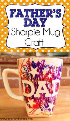 Check out this easy Father's Day sharpie mug kids craft. A super easy craft that will let your child make their own personalized gift for Father's Day.