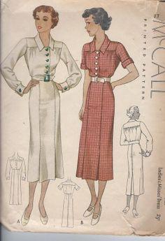 McCall 8660 | 1936 Misses'  Dress