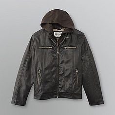 Levi's- -Men's Faux Leather Motorcycle Jacket