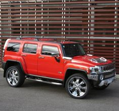 For a change of pace, the next on our list is the H3 Hummer Red. This is a cool, stylish sports and off-road vehicle.