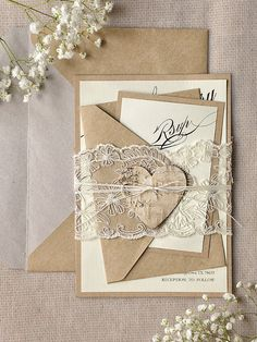 Custom listing 80 Rustic Lace Wedding by forlovepolkadots on Etsy