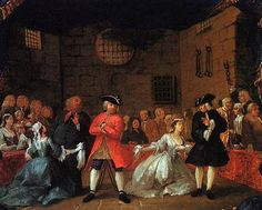 William Hogarth - A Scene from the Beggar's Opera - 1729