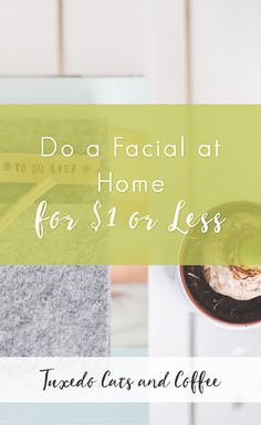 Facials at a spa or private esthetician can range anywhere from $50 at an Aveda to $100 or $150 at a swanky, upscale place. That's a lot to drop on a one time thing. To save money, here's how to do a facial at home for $1 or less or using natural ingredients you have at home!