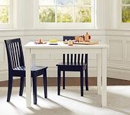 Carolina Small Table & 2 Chairs Set, Simply White Table, 2 Simply White Chairs