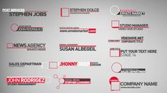 Clean Lower Thirds (Corporate) #Envato #Videohive #aftereffects