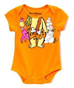 This Orange 'Bam Bam' Bodysuit - Infant by The Flintstones is perfect! #zulilyfinds