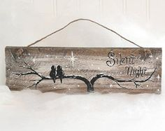 Rustic Wood Signs Reclaimed Wood Art Love by LindaFehlenGallery