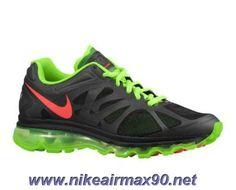 487982-063 Mens Black Electric Green White Bright Crimson Nike Air Max 2012 Sale