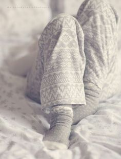 Seriously one of the best things about Winter: jumping in a cuddly pair of jammies, fuzzy socks, grabbing a blanket, and reading (or more typically in my case, movie marathons.)