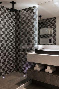 Navegue por fotos de Banheiros modernos: Lavabos e Banheiros. Veja fotos com as melhores ideias e inspirações para criar uma casa perfeita.