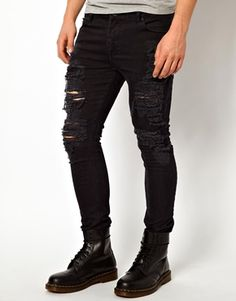 ed0fe0c771d59 ASOS Extreme Rips Skinny Jean Superenge Jeans