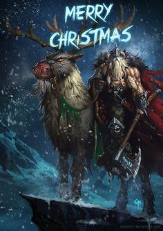 Top 25 des fan-art badass du Père Noël, c'est peut être pas une ordure mais c'est un putain de gros dur | Topito