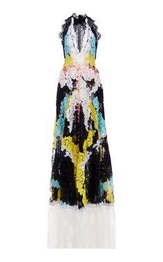 Crochet Maxi Dress by NAEEM KHAN for Preorder on Moda Operandi