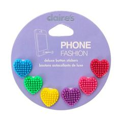 6 Pack Textured Heart Phone Button Stickers, Accessories, all, Phone Button Stickers, Phone & Tablet Accessories, Accessories Fashion trends, accessories and jewellery for young women Claire's Accessories, Iphone Accessories, Ipod Cases, Cool Phone Cases, Diy Doll School Supplies, Claire's Makeup, Computer Gadgets, Advent Calendars For Kids, Jewelry Shop