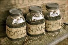Hey, I found this really awesome Etsy listing at https://www.etsy.com/listing/127445042/personalized-mason-jar-and-burlap