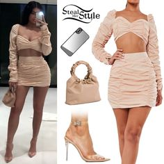 Style Kylie Jenner, Trajes Kylie Jenner, Looks Kylie Jenner, Kylie Jenner Outfits, Clubbing Outfits, Casual Dress Outfits, Summer Dress Outfits, Kpop Fashion Outfits, Celebrity Outfits