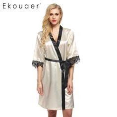 Available Now on our store:  Women's Kimono Ro... Check it out here ! http://mamirsexpress.com/products/womens-kimono-robe-knee-length-bathrobe-sexy-lingerie-sleepwear-short-satin-lace-nightwear-bridesmaid-robes-xs-xl-1?utm_campaign=social_autopilot&utm_source=pin&utm_medium=pin