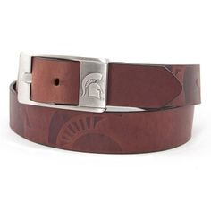 Michigan State Spartans NCAA Men's Embossed Leather Belt (Size 36)