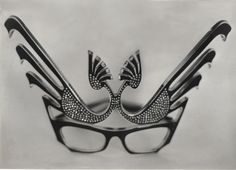 Exotic cat eye frames (from a collection put together by Miriam Slater in the 1970's).