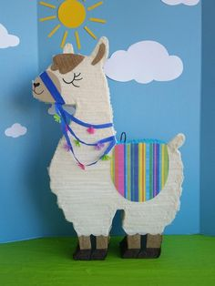Items similar to Llama Birthday Party Pinata. Llama Pinata on Etsy Alpacas, Llama Birthday, 2nd Birthday, Baby Llama, Diy Party Supplies, Birthday Decorations, First Birthdays, Dinosaur Stuffed Animal, Crafts For Kids