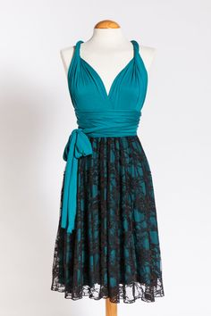 Hey, I found this really awesome Etsy listing at https://www.etsy.com/listing/180164414/turquoise-black-lace-infinity-bridesmaid