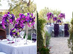 silver and purple wedding - Google Search