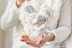 The home of little things: Текстильное сердечко для малыша или как я соскучилась по кружеву и ткани :).
