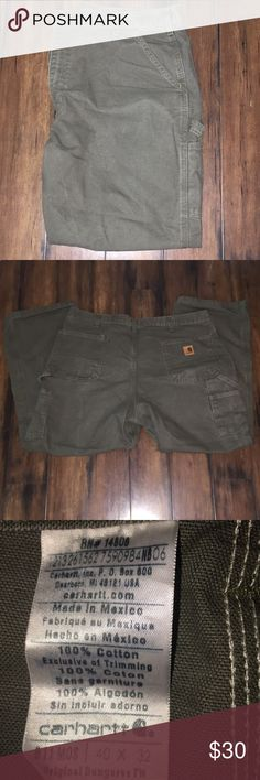 Carhartt Men's Olive Pants Carhartt pants 40x32. Excellent condition. Olive green. Carhartt Pants Cargo