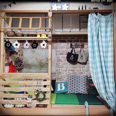 kinu-sakuさんの、ベッドまわりではありませんm(_ _)m,押入れDIY,押入れリメイク,ディアウォール,すのこ,ベッド周り,のお部屋写真