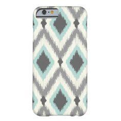 Aztec Tribal Ikat Chevron Pattern #aztec #zigzag #aqua #ikat #southwest #chevron #coral #tribal #diamonds #gray #pattern #design #modern