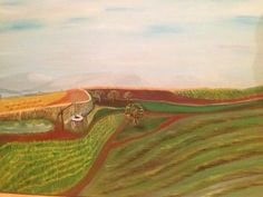 oil on canvas - 100 x 70 cm Fields, Oil On Canvas, Paintings, Art, Art Background, Paint, Painted Canvas, Painting Art, Kunst