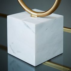 Two-Light Marble Table Lamp | west elm