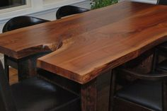 Escade Live Edge Dining Table(book-matched slab)  - traditional - dining tables - kansas city - Belak Woodworking LLC
