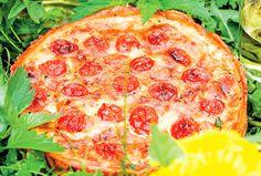 Ogräspaj med nässlor och kirskål Vegetarian Recipes, Cooking Recipes, Pepperoni, Starters, Nom Nom, Pizza, Favorite Recipes, Dessert, Dishes