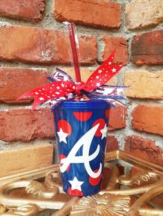 Personalized Atlanta Braves Tumbler BPA Free by SouthernLeeDesigns, $13.50