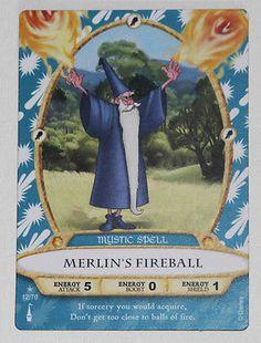 MERLIN'S FIREBALL Disney Sorcerers of the Magic Kingdom Card #12