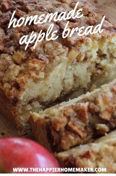 Cinnamon Bread This is the best cinnamon apple bread recipe I've ever tried!This is the best cinnamon apple bread recipe I've ever tried! Just Desserts, Delicious Desserts, Yummy Food, Desserts With Apples, Easy Apple Desserts, Best Thanksgiving Desserts, Apple Snacks, German Desserts, Fall Snacks