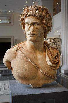 Roman Marble Portrait Bust of a Young Man with an Elaborate Coiffure, Marble, Antonine, ca. Ancient Greek Art, Ancient Rome, Ancient Greece, Roman Sculpture, Bronze Sculpture, Classical Greece, Roman Art, Male Figure, Roman Empire