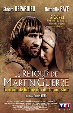 Le Retour de Martin Guerre . . . the first French movie i saw, way back in about 1984. My very Catholic all-girls school took our French class along for the language experience; we were 14! I'm pretty sure I became a Francophile on the spot. It's an unforgettable movie that I've watched several times over the years.
