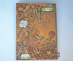 canvas made for the launch of the time traveller steampunk collection.