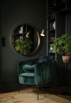 Un automne en couleurs par Ellos Home - PLANETE DECO a homes world - Expolore the best and the special ideas about Home interior design Dark Living Rooms, Living Room Mirrors, Living Room Decor, Bedroom Decor, Diy Interior, Interior Design Living Room, Living Room Designs, Gothic Interior, Luxury Interior