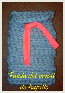 Funda móvil de trapillo #fundamóvil #trapillo #diy