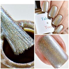 "Today I am featuring ""I Used to Be a Spy"" it is a liner holographic beige/blue/silver multi chrome nail polish. Dries to a satin finish. Opaque in two thin coats. Glossy topcoat recommended. It sells for $12 at my etsy shop linked below. Thank you to Ashley at Fireangel120 for the beautiful photos.  https://www.etsy.com/listing/477709992/i-used-to-be-a-spy?ref=shop_home_active_12"