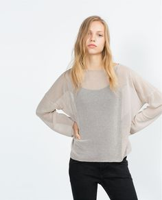 Image 2 of OPEN-KNIT SWEATER from Zara