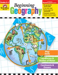 """""""Beginning Geography"""" Maps and more for young learners. Grades K-2. $15.99 evan-moor.com/bgeo"""