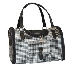Anima Houndstooth Print Travel Carrier 15Inch by 8Inch by 10Inch Medium ** Check out the image by visiting the link.(This is an Amazon affiliate link and I receive a commission for the sales)