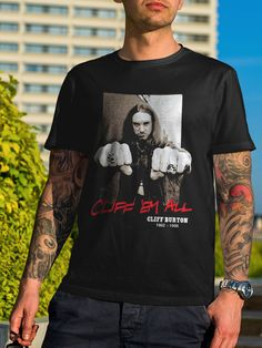 Metallica Cliff Em All RIP Cliff Burton Bassist T-Shirt
