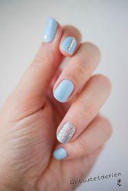 Baby blue nail art
