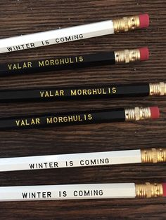 If you have a co-worker that won't stop talking about Jon Snow, these pencils are a perfect workplace gift idea!